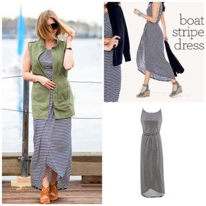 CAbi #5105 Striped Boat Dress Sz XL
